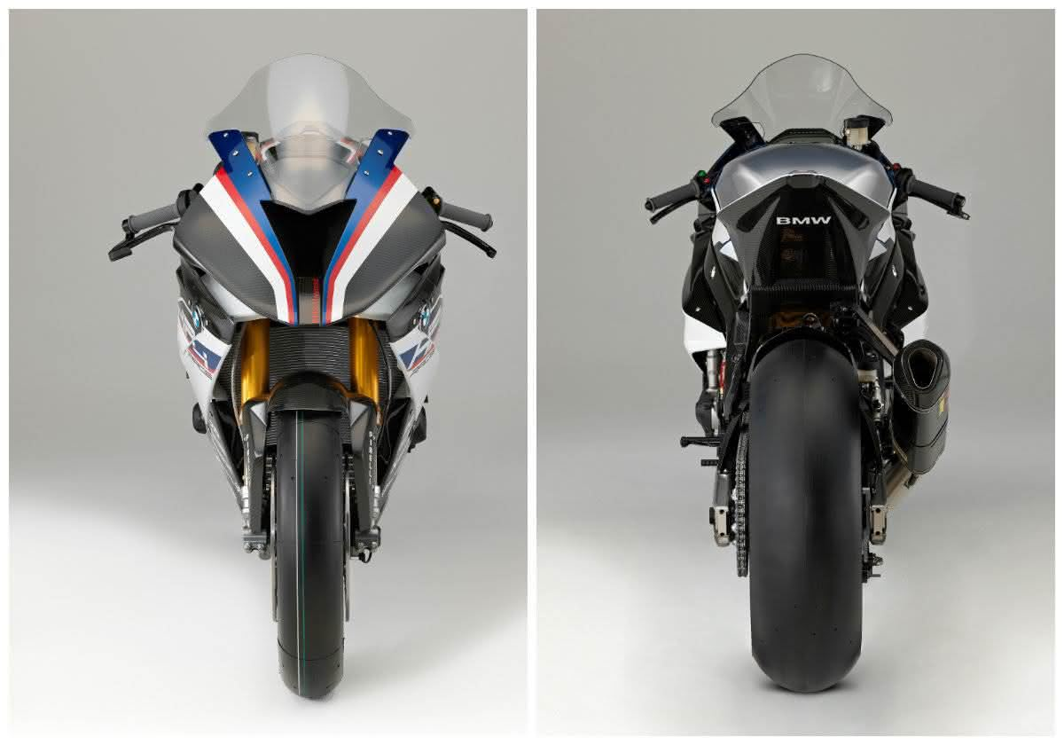 traseira da BMW HP4 Race 2020